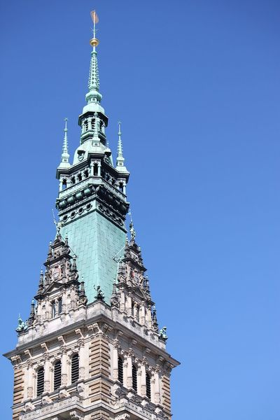 tower from the townhall in hamburg Architecture Hamburg Rathaus Townhall Townhall Hamburg Townhall Tower Travel Turm Architecture Blue Building Exterior City Clear Sky Day History History Architecture No People Outdoors Sky Tourism Tower Travel Destinations