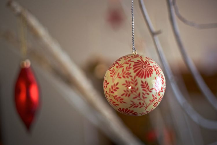 Ball Celebration Christmas Christmas Decoration Decoration Decorations Focus On Foreground Hanging Holiday Holiday - Event Indoors  Red