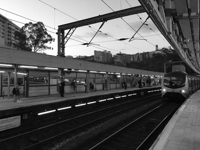 HongKong Subway Station Blackandwhite