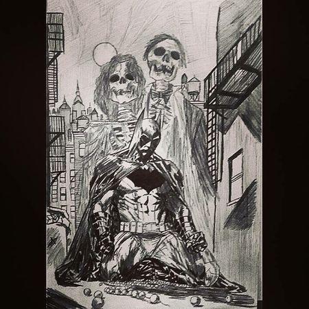 Batman DC Comics Blackandwhite ArtWork