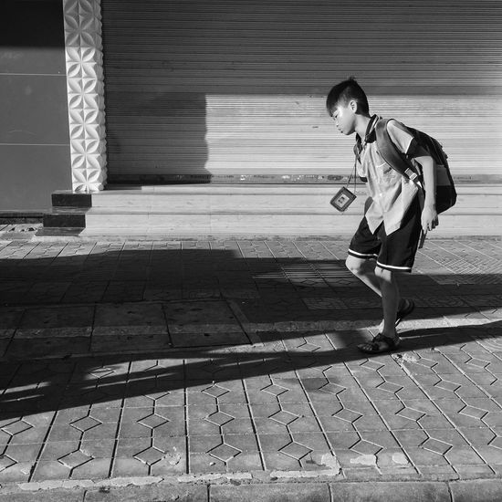 Monochrome Black And White Blackandwhite Iphoneonly Iphone 6 Plus IPhoneography People Street Photography Going To School