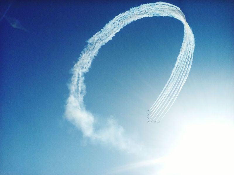 Air Festival Flying Acrobatics  Looping Patrulla Aguila Sky Performance