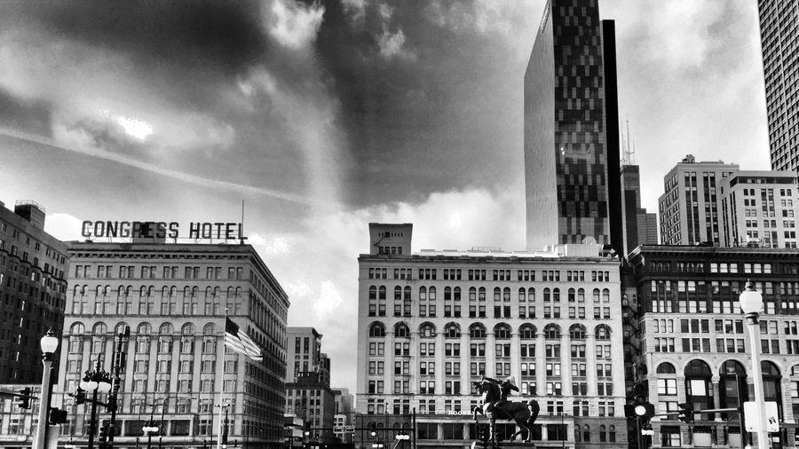 Downtown Chicago Blackandwhite