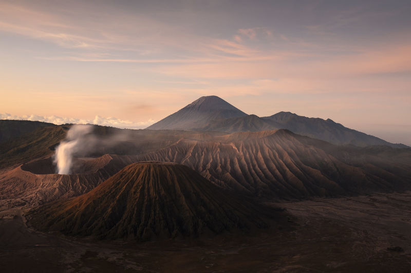 Scenic View Of Bromo-Tengger-Semeru National Park During Sunset