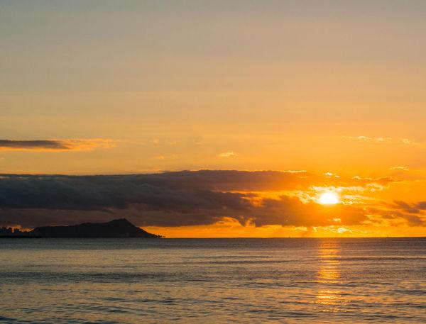 """Good sun rising"" Beauty In Nature Cloud - Sky Day Horizon Over Water Idyllic Kapolei  Nature Nimitz Beach No People Oahu Outdoors Reflection Scenics Sea Sky Sun Sunset Tranquil Scene Tranquility Water Waterfront"