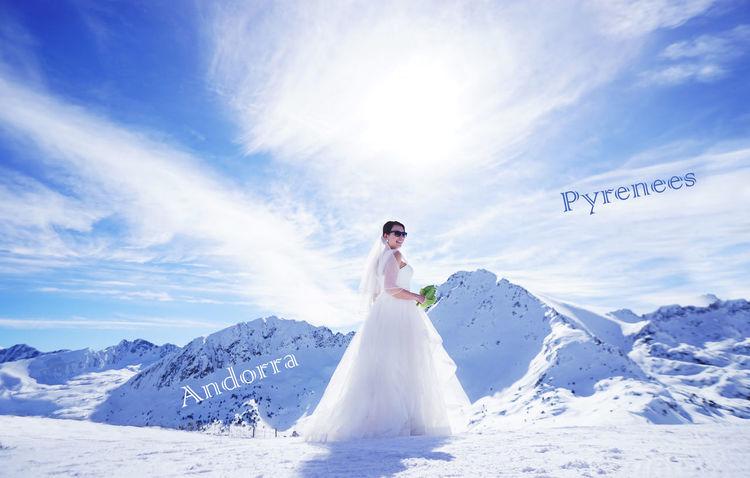 Encamp Wedding Andorra Beauty In Nature Bride Canilio Eltrater Grandvalira Mountain Wedding In Mountain