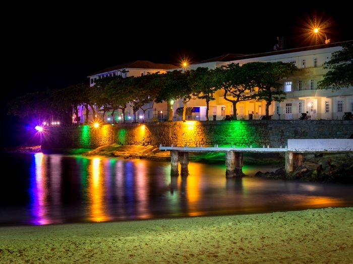 Longexposure Picoftheday Seashore Night Illuminated Water Nightlife Arts Culture And Entertainment Architecture Outdoors No People