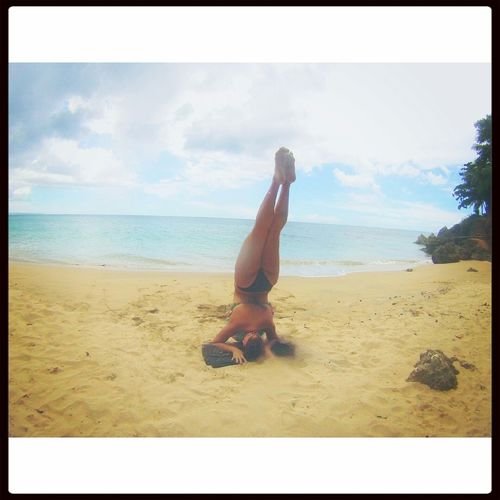 What Makes You Strong? Handstand  Beach Puerto Rico