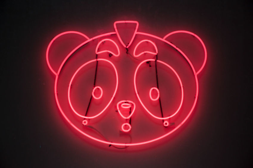 Circle Close-up Design Detail Directly Above Indoors  Neon Neon Lights No People Single Object