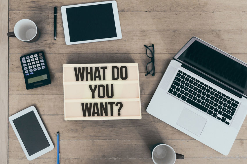 Communication Text Words Header Title Banner What Do You Want? Want Desire Wish Motivational Office Job Work