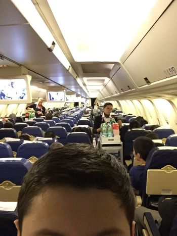 Airplane Headfie Selfie