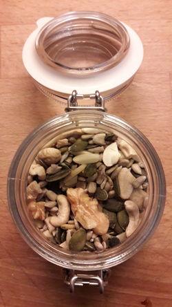 Food Walnuss Seeds Energy Ready To Eat High Angle View