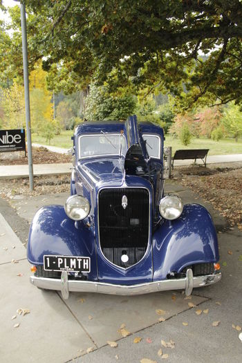 Classic Car - Plymouth Blue Classic Car Classic Cars Day Land Vehicle Marysville Vic No People Outdoors Plymoth Car Road Transportation Tree