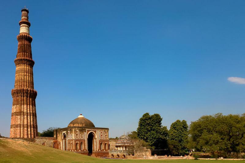 Qutab Minar Ancient Civilization Architecture Tourism Travel Travel Destinations