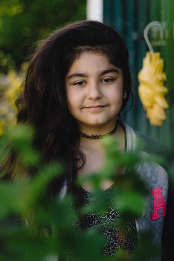 One Person Portrait Looking At Camera Long Hair Child One Girl Only People Children Only Childhood Headshot Smiling Beauty Girls Front View Outdoors Flower Standing Day Nature Happiness