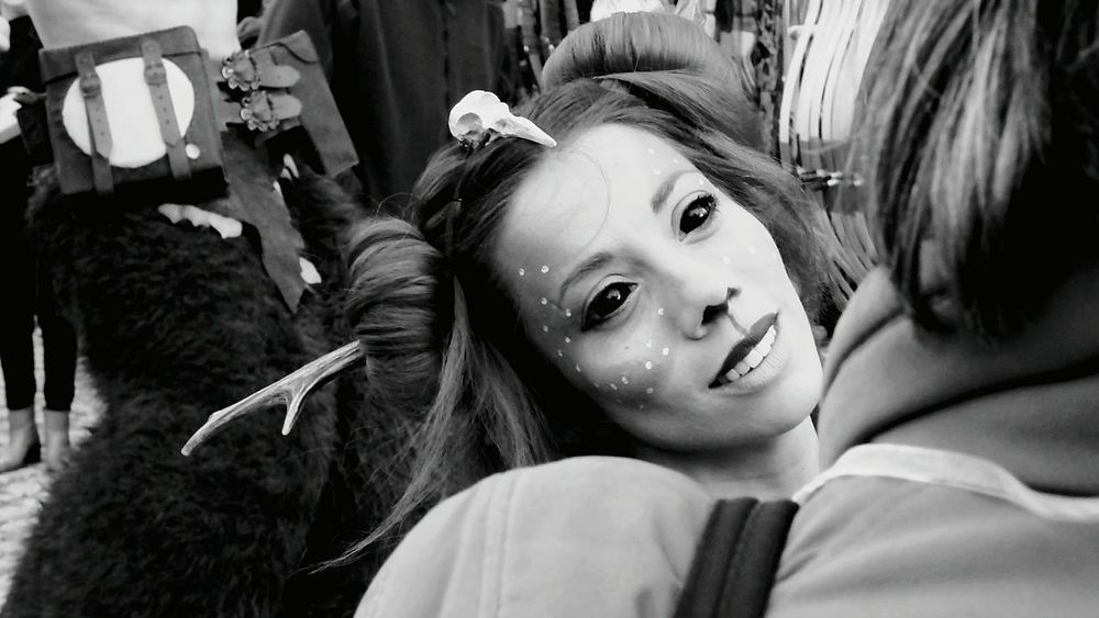 The Faces in the Fairground Theatrical Eye4photography  Face Black Eyes The Week Of Eyeem Black & White Black And White Human Face Taking Photos EyeEm Gallery Taking Pictures Theatre Arts Street Fair The Magic Mission