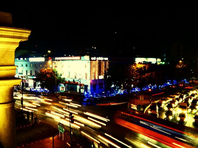 Life goes by at the speed of light.... Delhi Streets Nightlife First Eyeem Photo