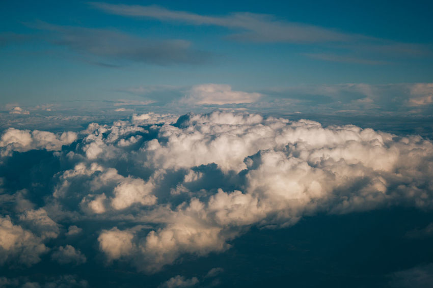 Aerial View Enjoy The New Normal Blue Cloud Cloud - Sky Cloudscape Cloudy Day Fluffy Full Frame Idyllic Majestic Meteorology Nature No People Outdoors Scenics Showcase April Sky Sky Only Softness Tranquil Scene Tranquility Weather White