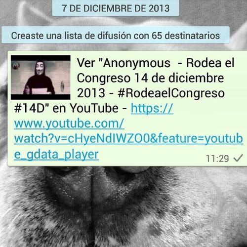 """Ver """"Anonymous - Rodea el Congreso 14 de diciembre 2013 - RodeaelCongreso 14D """" en YouTube - https://www.youtube.com/watch?v=cHyeNdIWZO0&feature=youtube_gdata_player"""