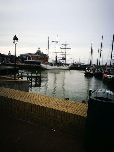 Boat Canal Water Harlingen, Netherlands Netherlands