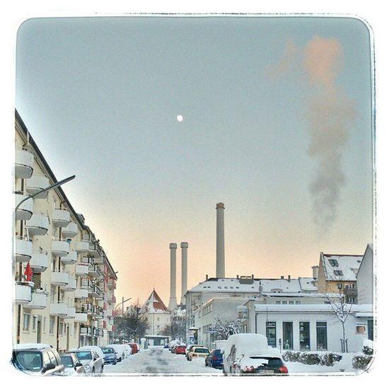 Winter Urban Landscape Munich Snowwhite Sendling