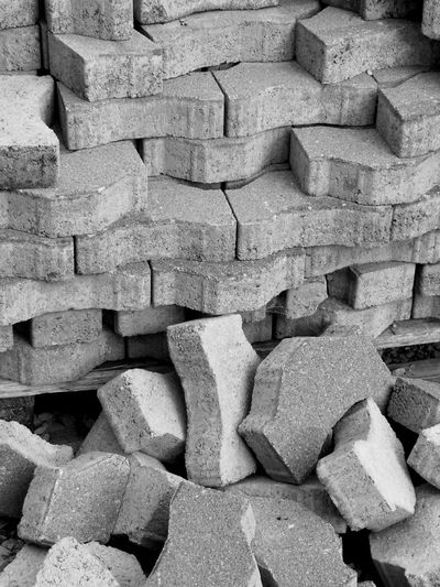 Construction Site Abundance Brick Construction Industry Construction Work Day Heap Heap Of Stones Large Group Of Objects Solid Stack Stone - Object