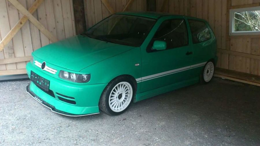 Polo 6N VW POLO 6N VW Tuning Cars Low Polo Car Green Color Land Vehicle Blue Old-fashioned No People Day First Eyeem Photo