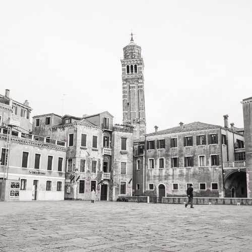 Campo Sant'Anzolo - Venice Building Exterior Built Structure Architecture Building Sky Tower Travel Destinations City Nature Tourism Day Spirituality Travel Outdoors Belief Spire  Venice Italy Campo Ancient Venice, Italy Place