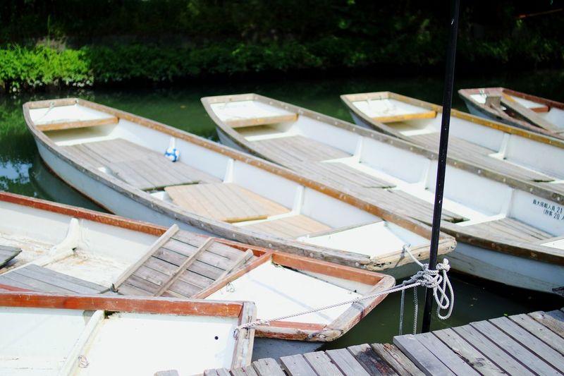 構図は良かったと思うんです、構図は ( ´・・)Soccerball Boats Riverside Hanging Out Water