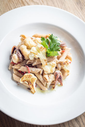 Food And Drink Anchovies Cauliflower Fine Dining Food Foodphotography Freshness Garnish Gourmet Healthy Eating High Angle View Indoors  Italian Food Luxury Meal No People Pasta Plate Ready-to-eat Restaurant Serving Size Table Temptation Vegetable Wellbeing