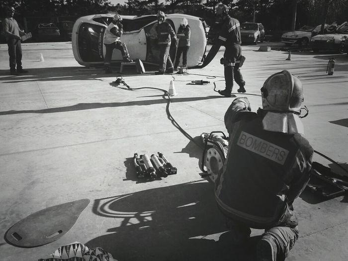 Firefighter Blackandwhite Fire Blanco Y Negro Blancinegre Bomberos Bombers