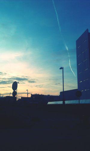 Sunset Skyline Landscape Sky