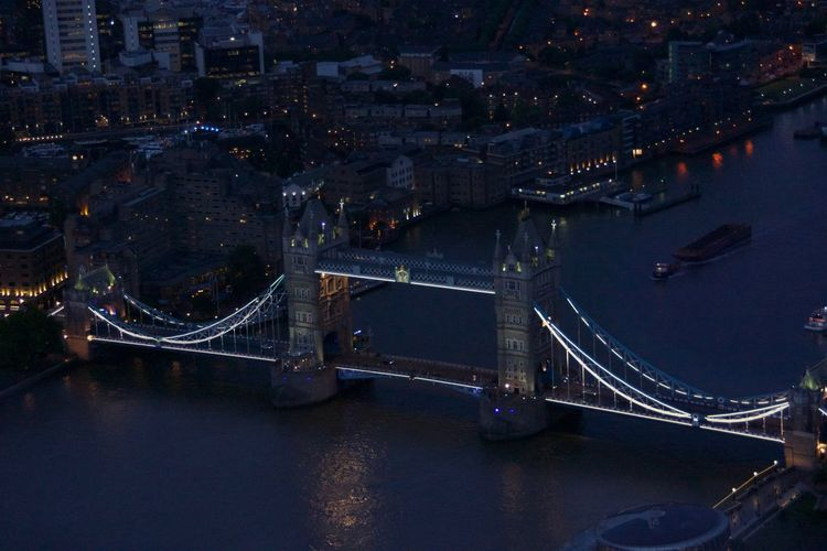 High angle view of london bridge
