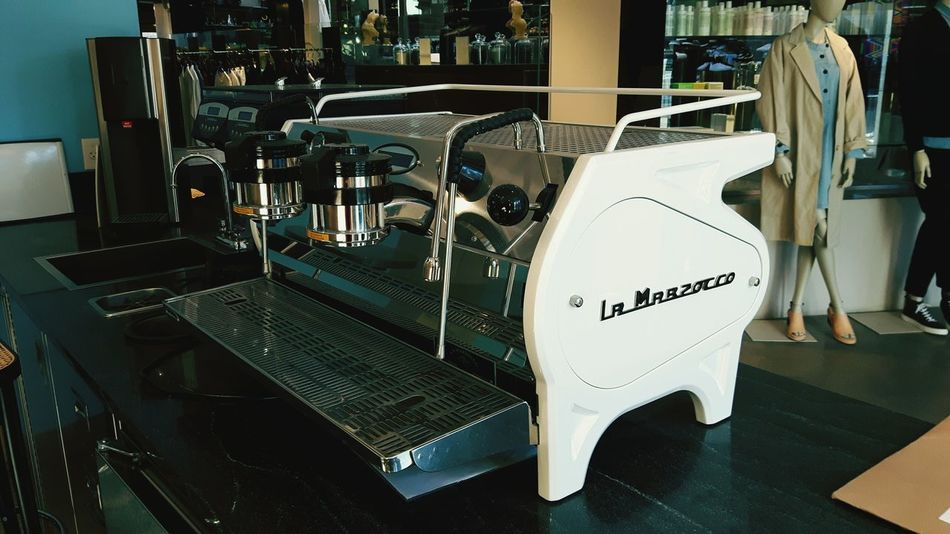 La Marzocco Stradda EE in Lexus White No People Table Cultures Indoors  Architecture Day Barista Thirdwavecoffee Espresso Onbrand Brands  Coffeeshop Coffeeaddict Coffee Shop First Eyeem Photo EyeEmNewHere