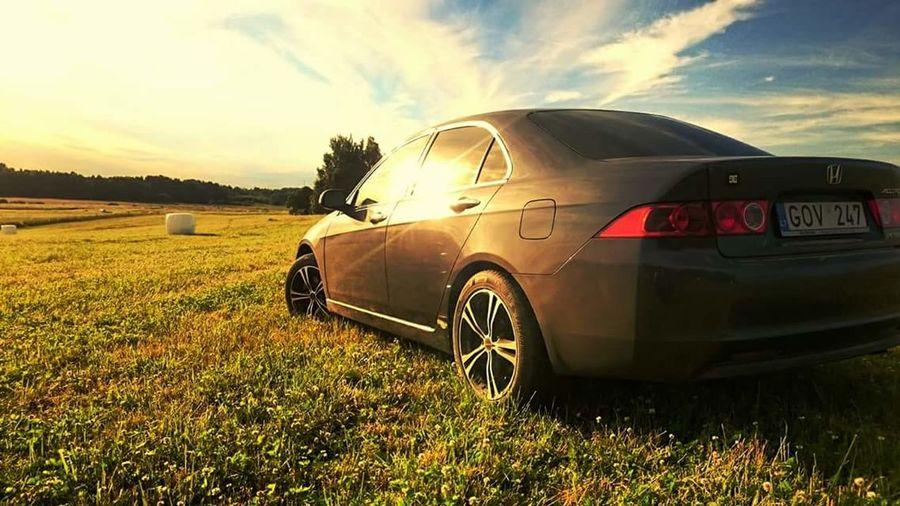 Honda Accord 7gen Nature Sunset CarShow Carinnature Sunshine ☀ Warm Colors