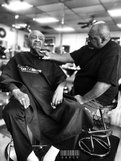 Overdue...... Haircut Getting Fresh Shave Peoplephotography People Taking Photos Blackandwhite Barbershop
