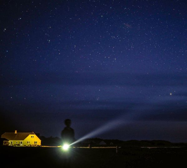 Man with a torch watching the night sky in Denmark Torchlight Torch Night Star - Space Sky Space Astronomy Scenics - Nature Illuminated Galaxy Beauty In Nature Nature Star Star Field Science Space And Astronomy Constellation Infinity Tranquility Tranquil Scene Outdoors Milky Way Capture Tomorrow