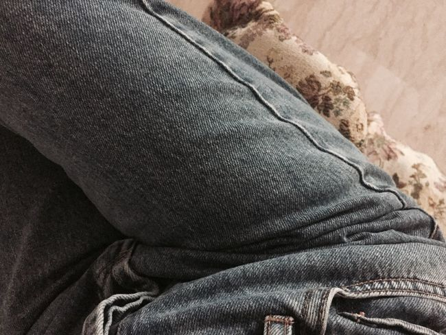 Close-up Focus On Foreground Jeans Denim Minimal Fade Soft
