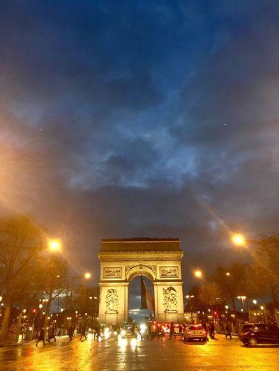 About last evening 🇫🇷 Paris France Champs-Élysées  Lights