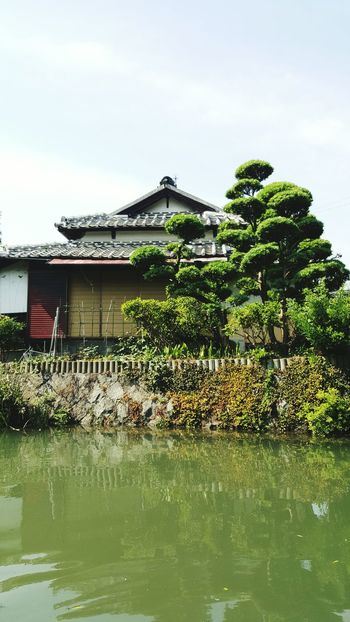 Japan Japanese Style House By The River Boat Canal Garden