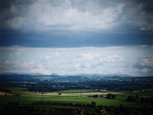 View across Penrith to the hills of the Lake District. Views Lake District Penrith Hills Clouds And Sky Distant Distance British Countryside New Landscape