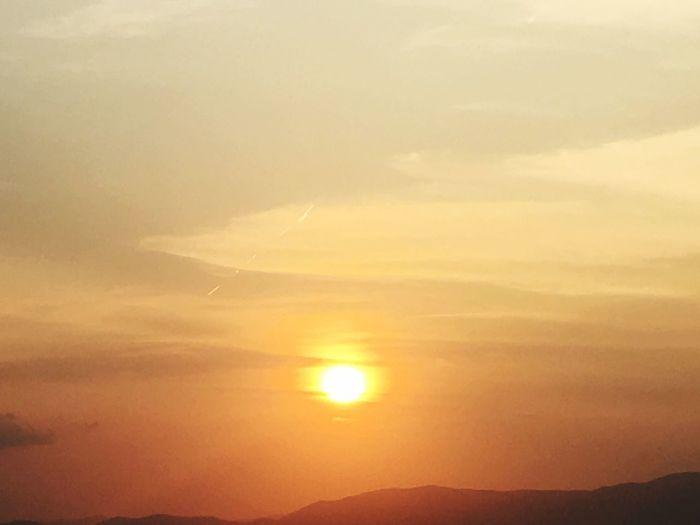 Skyporn Ocean Ballermann Balearen SPAIN Mallorca Sunset Sky Beauty In Nature Scenics - Nature Tranquility Tranquil Scene Cloud - Sky Sun Idyllic Orange Color Mountain Nature No People Non-urban Scene Sunlight Dramatic Sky Majestic Environment Outdoors Awe