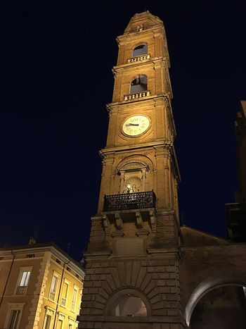 Italy🇮🇹 Night Photography Night Lights Long Exposure Shot City Hall High City Tower Middelages Very Old City Fajance Ceramics Faenza City Architecture Built Structure Night Building Exterior Low Angle View Tower Illuminated Building Travel Destinations City History Travel The Past Tall - High Sky Clock Tower No People Clock