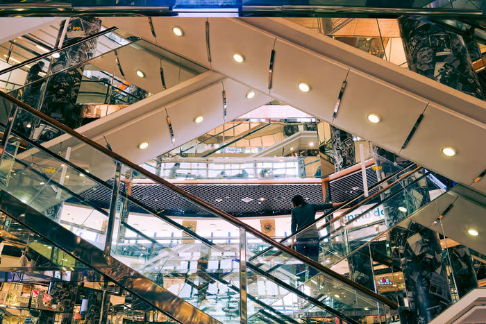 Shopping Mall Abstract. Shopping Mall Architecture Architecture_collection Escalator Reflections Mirrors DOOTA Abstract