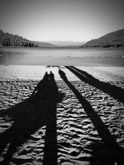 Shadow Nature Beach Focus On Shadow Sand Scenics Beauty In Nature Sunlight Day Tranquil Scene Tranquility Outdoors Landscape Mountain Water Lifestyles Donner Lake Black & White Black And White Blackandwhite Photography Lake View Lakeshore Lake Lakeside Lakeview