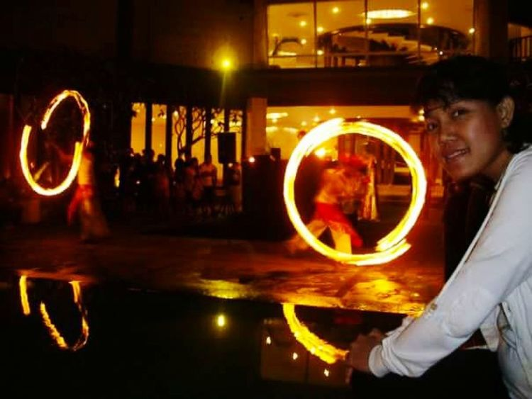 with magical of Fire dance..