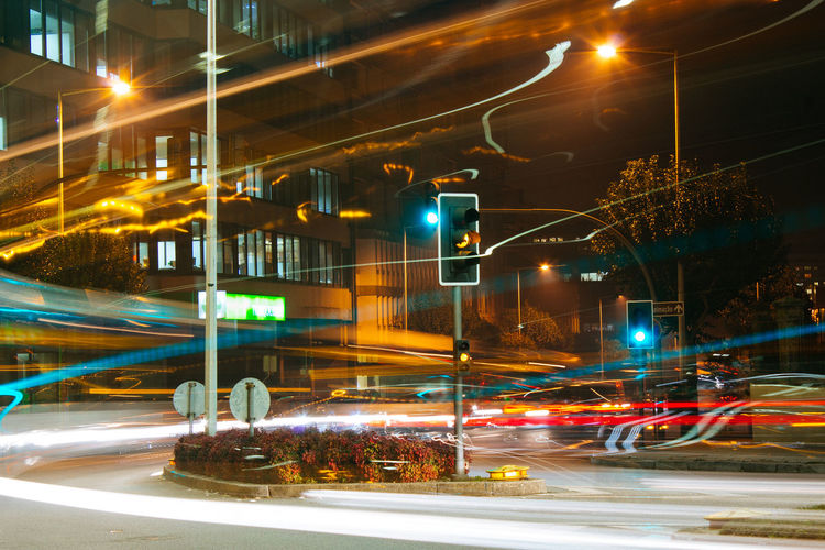 long exposure photography, taken in the city of the porto, Portugal. Cityscape Light Porto Portugal 🇵🇹 City Europe Illuminated Long Exposure Massarelos Night No People Outdoors Portuguese Culture Semaphore Signals Town Traffic Traffic Signal Urban Scene First Eyeem Photo