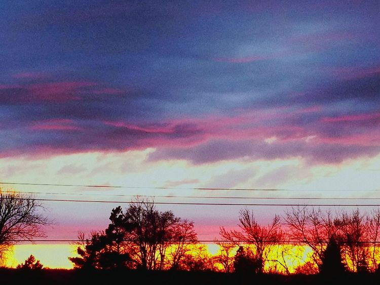 Sunset Sky Cloud - Sky Beauty In Nature Nature No People Outdoors Tranquility Tree Sioux Falls, South Dakota Spring 2017❤ Lovely Weather My Beautiful View