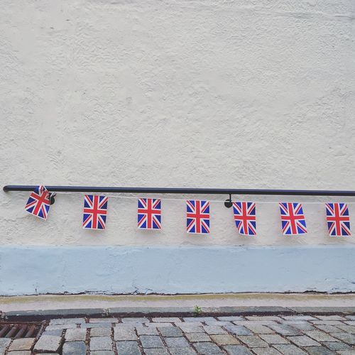 Brexit. No People Built Structure Building Exterior Pink Color Architecture Day Outdoors Hygiene United Kingdom Brexit Union Jack Flags Flags Waving Britain The Graphic City