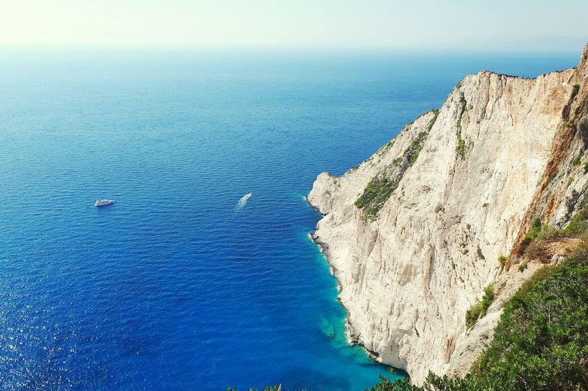 Zakhyntos Shipwreck Bay Water Sea Beach Blue Sky Horizon Over Water